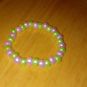 Watermelom themed beaded bracelet